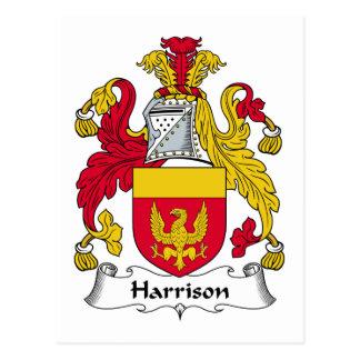 Harrison Family Crest Postcard