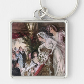 Harrison Fisher: Catch the Bridal Bouquet Key Chain