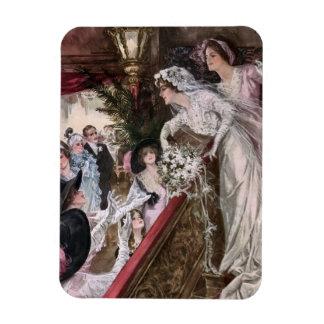 Harrison Fisher: Catch the Bridal Bouquet Rectangular Photo Magnet