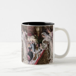 Harrison Fisher: Catch the Bridal Bouquet Two-Tone Coffee Mug