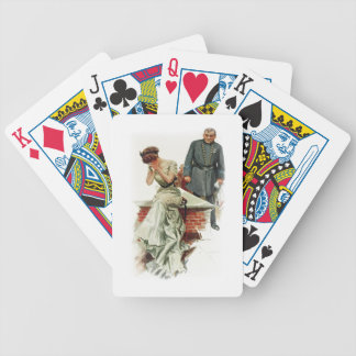 Harrison Fisher Girl When a Man Marries Jilted Bicycle Playing Cards