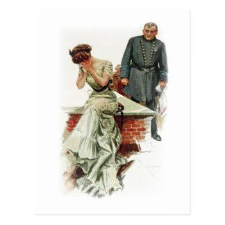 Harrison Fisher Girl When a Man Marries Jilted Postcard
