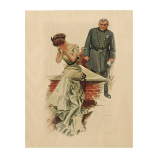 Harrison Fisher Girl When a Man Marries Jilted Wood Wall Art