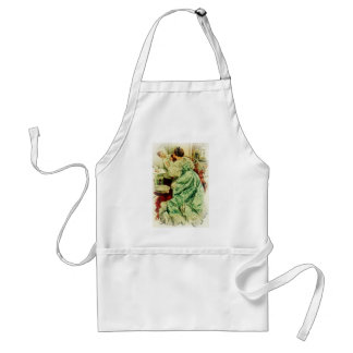 Harrison Fisher Girl When a Man Marries Sick Bed Adult Apron