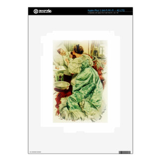 Harrison Fisher Girl When a Man Marries Sick Bed iPad 3 Skins