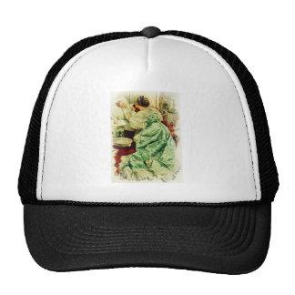 Harrison Fisher Girl When a Man Marries Sick Bed Trucker Hat