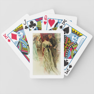 Harrison Fisher Girl When Man Marries To the Ball Bicycle Playing Cards