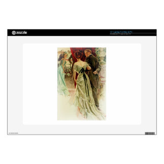 """Harrison Fisher Girl When Man Marries To the Ball Decal For 15"""" Laptop"""
