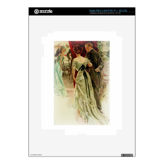 Harrison Fisher Girl When Man Marries To the Ball Decals For iPad 3