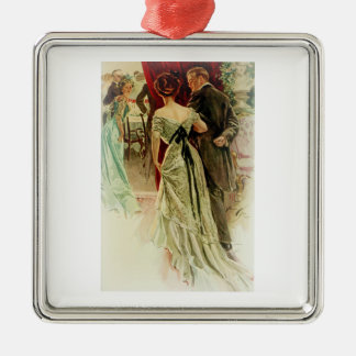 Harrison Fisher Girl When Man Marries To the Ball Metal Ornament