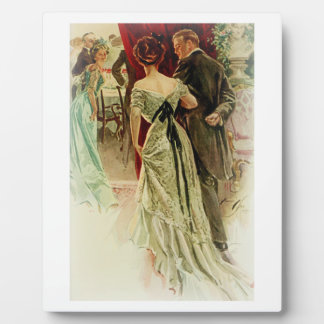 Harrison Fisher Girl When Man Marries To the Ball Plaque