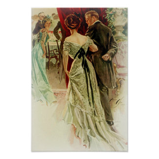 Harrison Fisher Girl When Man Marries To the Ball Poster