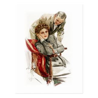 Harrison Fisher Heart's Desire Merciless Silence Postcard