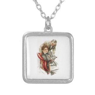 Harrison Fisher Heart's Desire Merciless Silence Square Pendant Necklace