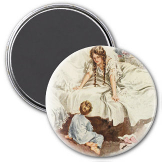 Harrison Fisher Hearts Desire Really My Mother 3 Inch Round Magnet