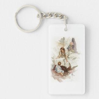 Harrison Fisher Hearts Desire Really My Mother Single-Sided Rectangular Acrylic Keychain