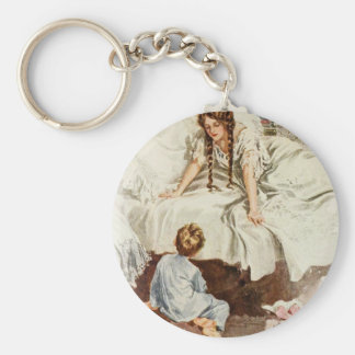 Harrison Fisher Hearts Desire Really My Mother Basic Round Button Keychain