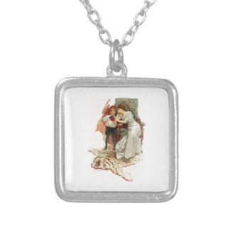Harrison Fisher Hearts Desire This is My Age Book Square Pendant Necklace