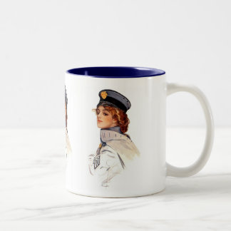 Harrison Fisher: Maid at Arms Two-Tone Coffee Mug