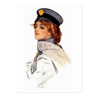 Harrison Fisher: Maid at Arms Postcard