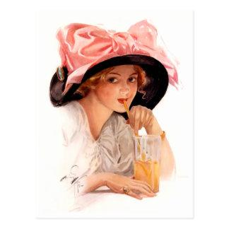 Harrison Fisher: Refreshment Postcard