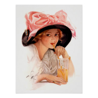 Harrison Fisher: Refreshment Poster