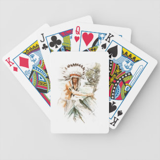 Harrison Fisher Song Hiawatha Indian head dress 2 Bicycle Playing Cards