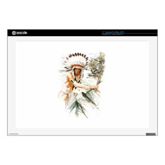 Harrison Fisher Song Hiawatha Indian head dress 2 Skin For Laptop