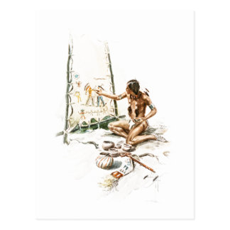 Harrison Fisher Song Hiawatha Red Indian Painting Postcard