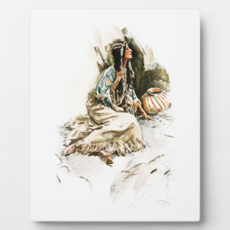 Harrison Fisher Song Hiawatha Red Indian Squaw 1 Plaque