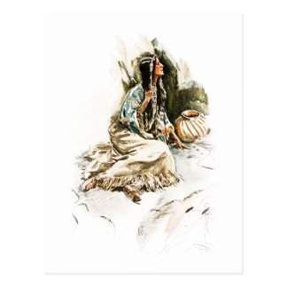 Harrison Fisher Song Hiawatha Red Indian Squaw 1 Postcard