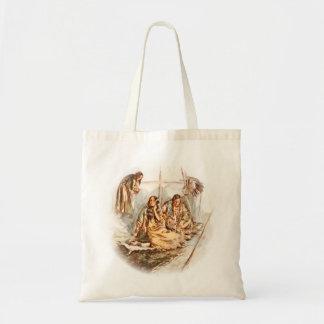 Harrison Fisher Song of Hiawatha Preparing Food Tote Bag