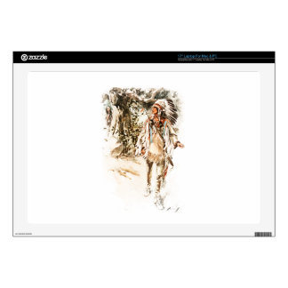 """Harrison Fisher Song of Hiawatha Red Indian 17"""" Laptop Skins"""