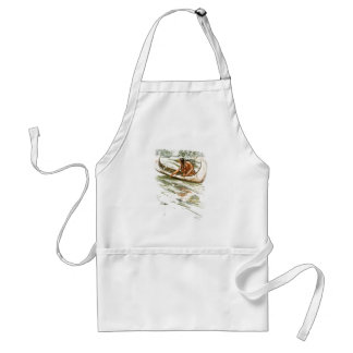 Harrison Fisher Song of Hiawatha Red Indian Canoe Adult Apron