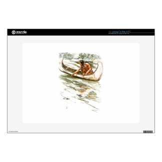 Harrison Fisher Song of Hiawatha Red Indian Canoe Skin For Laptop