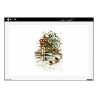 """Harrison Fisher Song of Hiawatha Red Indian Otters 17"""" Laptop Decals"""
