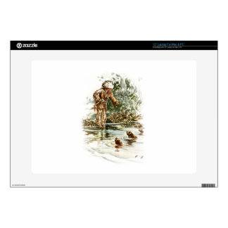 """Harrison Fisher Song of Hiawatha Red Indian Otters 15"""" Laptop Decals"""