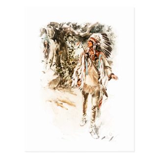 Harrison Fisher Song of Hiawatha Red Indian Postcard