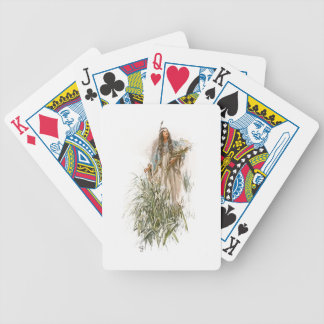 Harrison Fisher Song of Hiawatha The Lonely Maiden Bicycle Playing Cards