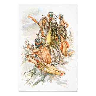 Harrison Fisher Song of Hiawatha To the Mountains Photo Print