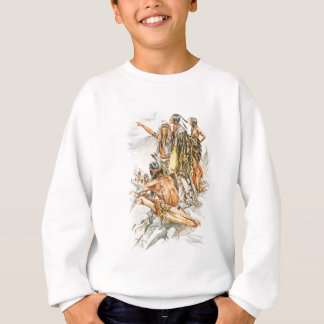 Harrison Fisher Song of Hiawatha To the Mountains Sweatshirt