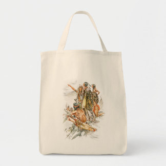 Harrison Fisher Song of Hiawatha To the Mountains Tote Bag