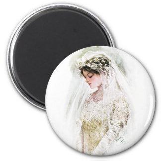 Harrison Fisher: The Bride 2 Inch Round Magnet