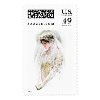 Harrison Fisher: The Bride Postage Stamps