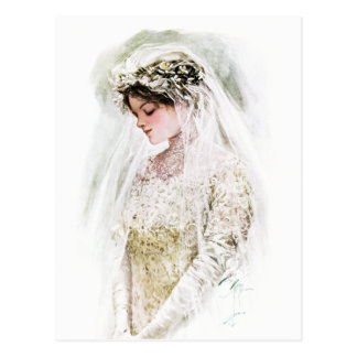 Harrison Fisher: The Bride Postcard