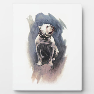 Harrison Fisher The Day of the Dog Bulldog Plaque