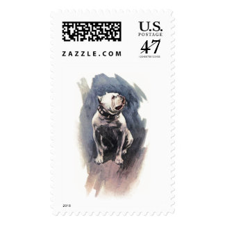 Harrison Fisher The Day of the Dog Bulldog Postage