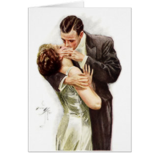 Harrison Fisher: The Kiss Greeting Card