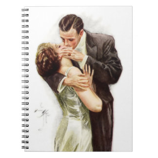 vintage kissing couple notebooks journals zazzle. Black Bedroom Furniture Sets. Home Design Ideas