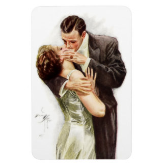 Harrison Fisher: The Kiss Rectangular Photo Magnet